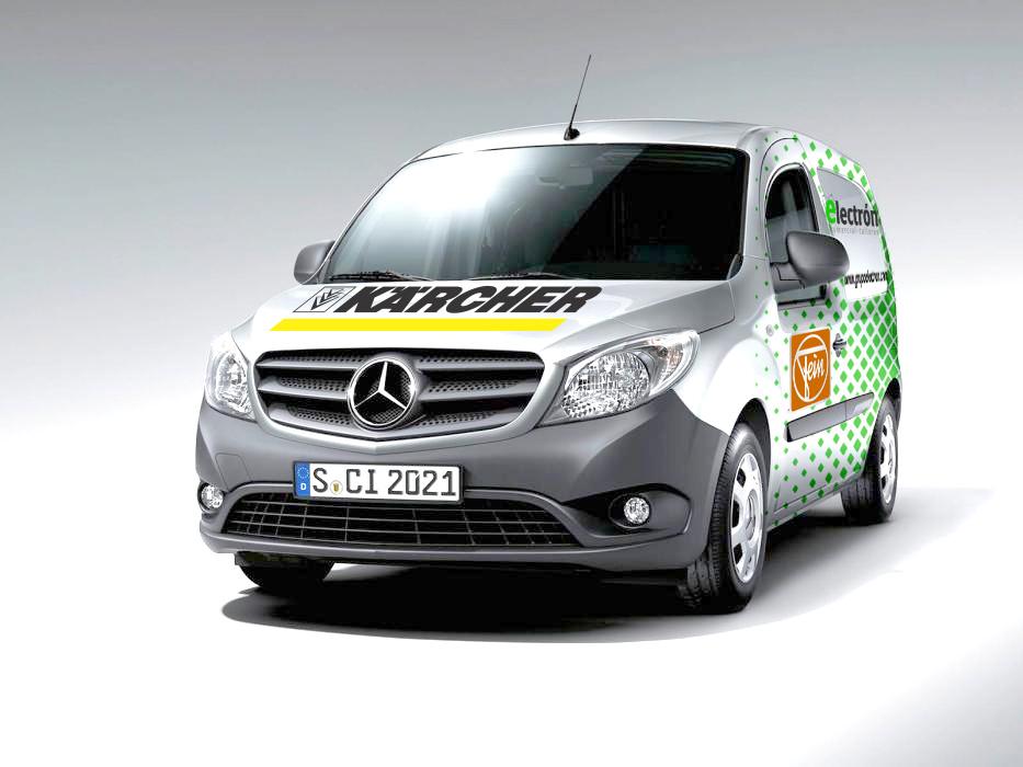 Sv diseno - Rotulación furgoneta comercial talleres electron
