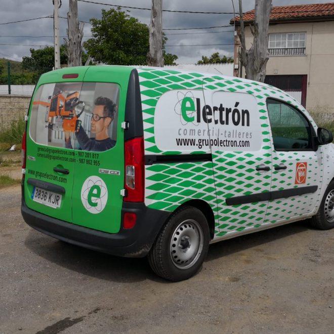 Sv diseno - Rotulacion furgoneta Grupo Electron1